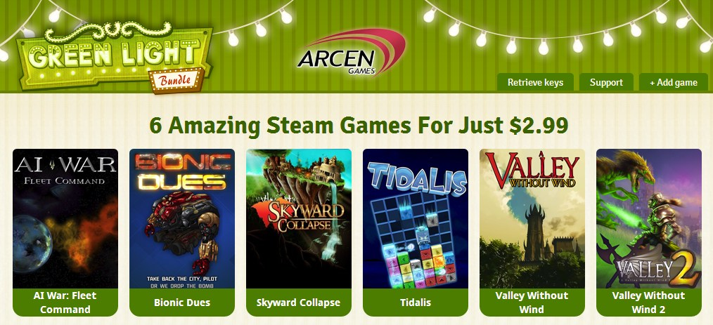 green light bundle arcen games