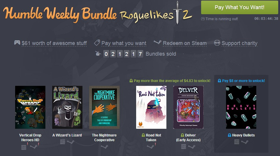humble bundle weeekly roguelike 2