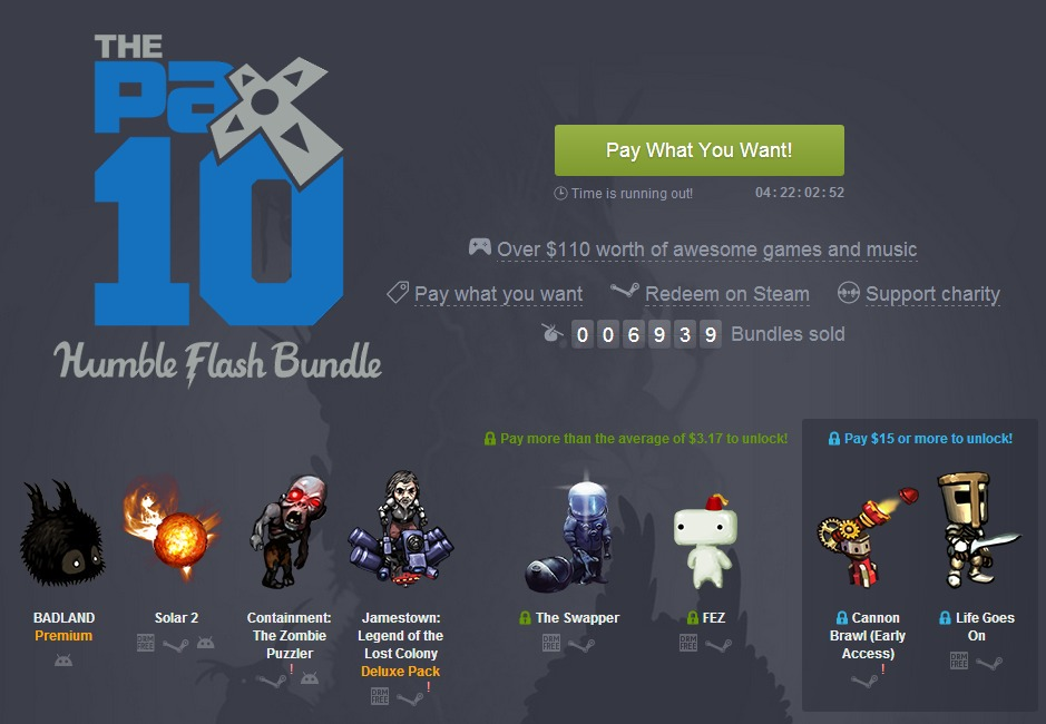 humble pax 10 flash bundle