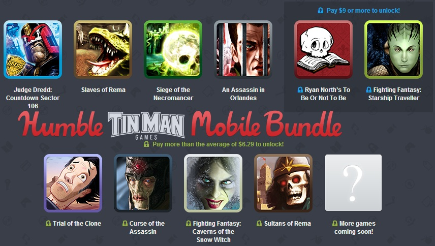 humble tin man games mobile bundle